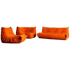 "Ligne Roset ""Togo"" Set by Michel Ducaroy"