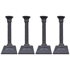 Set of Four Mottahedeh Basalt Candleticks