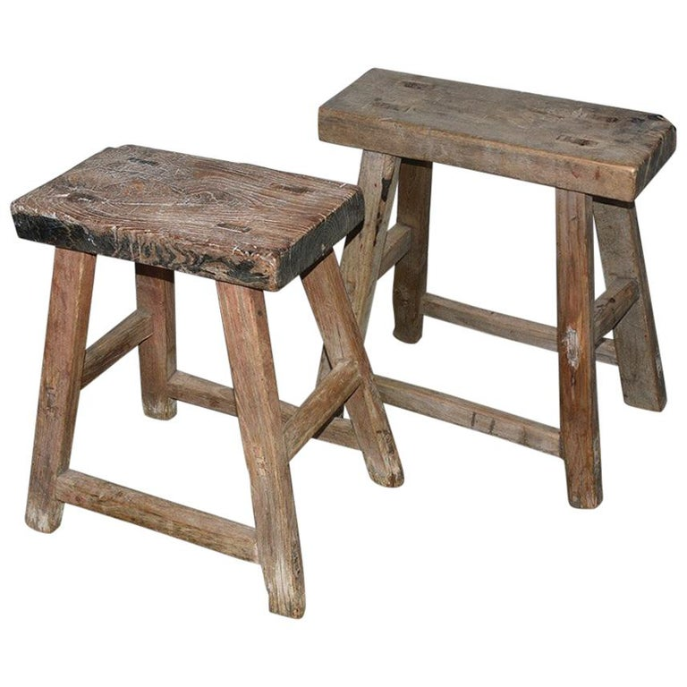 Rustic Asian Stools, Sold Singly For Sale