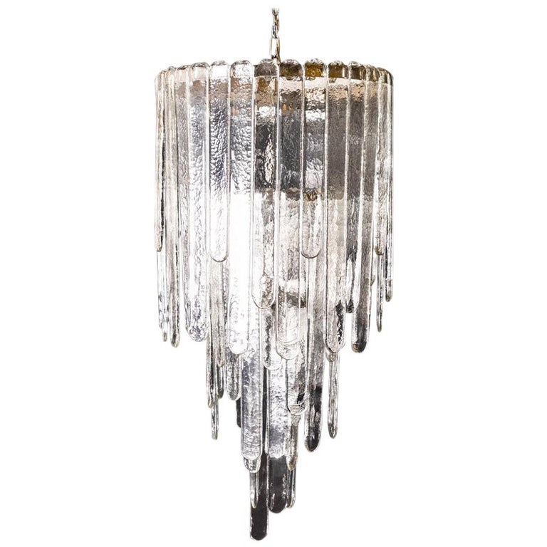 Waterfall Chandelier by Carlo Nason, 1946 For Sale