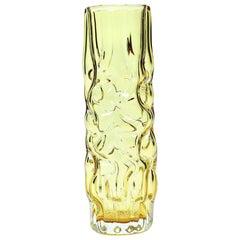 Yellow Brain Vase by Pavel Hlava for Glass Union Crystalex, Czechoslovakia, 1968