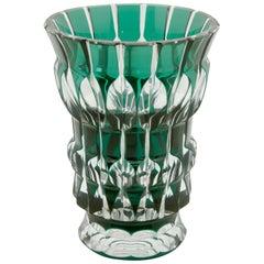 Val Saint Lambert Crystal Vase 'Aglea' Charles Graffart Cut-to-Clear Signed