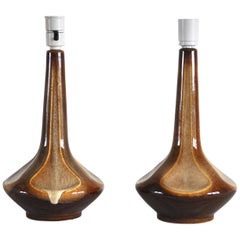 Pair of Ceramic Table Lamps by Einar Johansen for Søholm, Denmark
