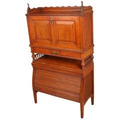 Edwardian Oak Writing Bureau Possibly by Shoolbred & Co, London
