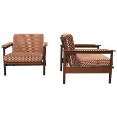 Set of 2 Midcentury Stildomus Lounge Chairs, Italy, 1960s
