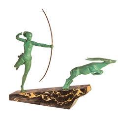 Art Deco Sculpture 'Atalante' from Max Le Verrier Foundry, Paris