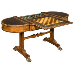 Regency Rosewood Games Table Attributed to Gillows