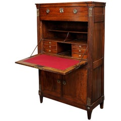 French Louis XVI Period Cherrywood Secretaire a Abattant, circa 1780