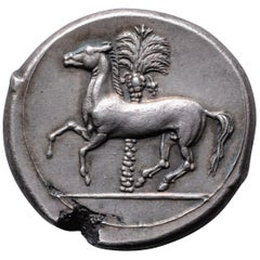 Superb Ancient Greek Silver Punic Coin from Sicily, 345 BC