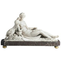 Alabaster Sculpture Group of Venus and Cupid