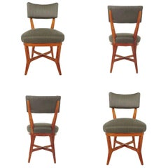 Four Chairs Attributed to Studio BBPR, Italy, 1940s