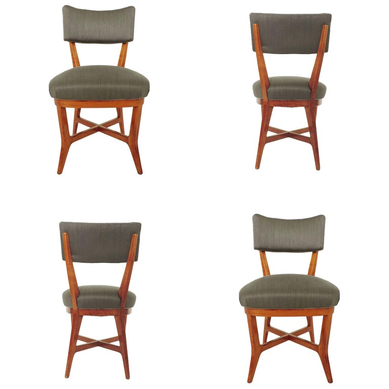 Four Chairs Attributed to Studio BBPR, Italy, 1940s For Sale