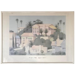 William Buffet Art Hollywood Print, Signed, Framed, California 1987 SALE