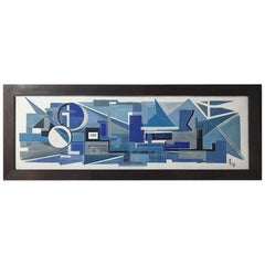 1963, Large French Painting on Plaster