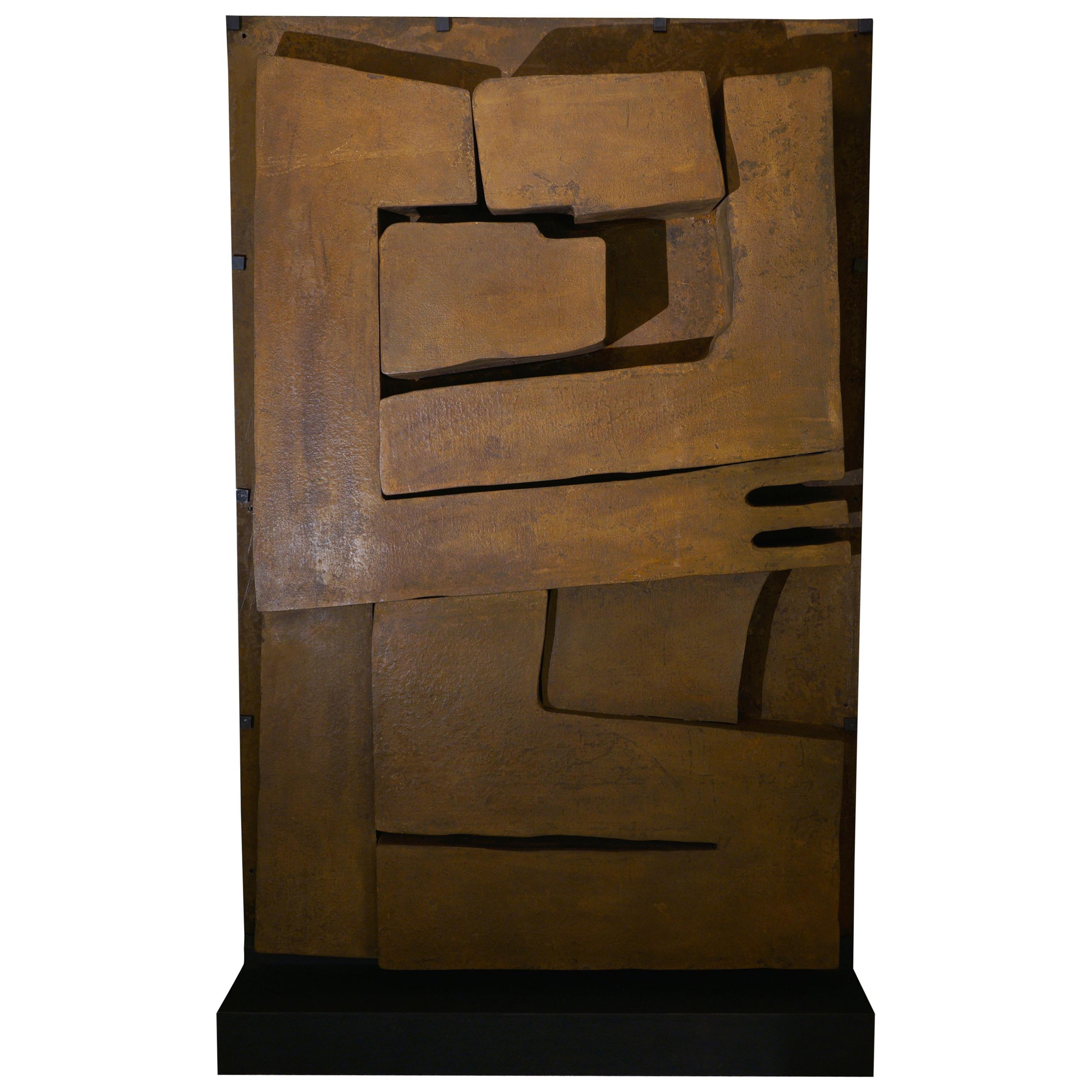 Freestanding Abstract Steel Sculpture, France, 1973