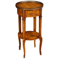 20th Century Rosewood, Maple, Mahogany Fruitwood Inlaid French Side Table, 1960