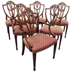 Set of 6 Baker Louis XIV Style Dining Room Chairs