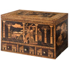 Rare Exceptional French Straw Work Box