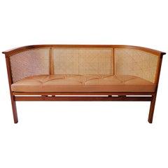 Danish Sofa in Mahogany and Leather by Rud Thygesen / Johnny Sorensen for Botium