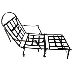 19th Century Black Iron  Spanish Travel Folding Sofa-Bed