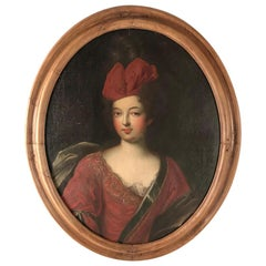 Late 17th Century Oil Portrait of Lady