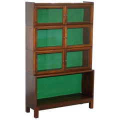 Rare circa 1930 Mahogany Modular Minty Oxford Antique Stacking Legal Bookcase