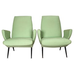 Set of 2 Nino Zoncada  Mid-Century Stylish Armchairs, Italy 50's