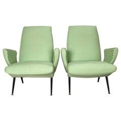 Nino Zoncada 20th Century Stylish Design Armchair, Set of 2