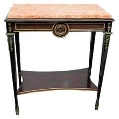 Regency Style Marble-Top Desk Attributed to Forest