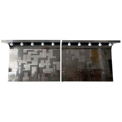 Pair of Cityscape Headboard with Lights Paul Evans for Directional