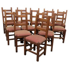 Set of 12 Stickley Style Dining Side Chairs