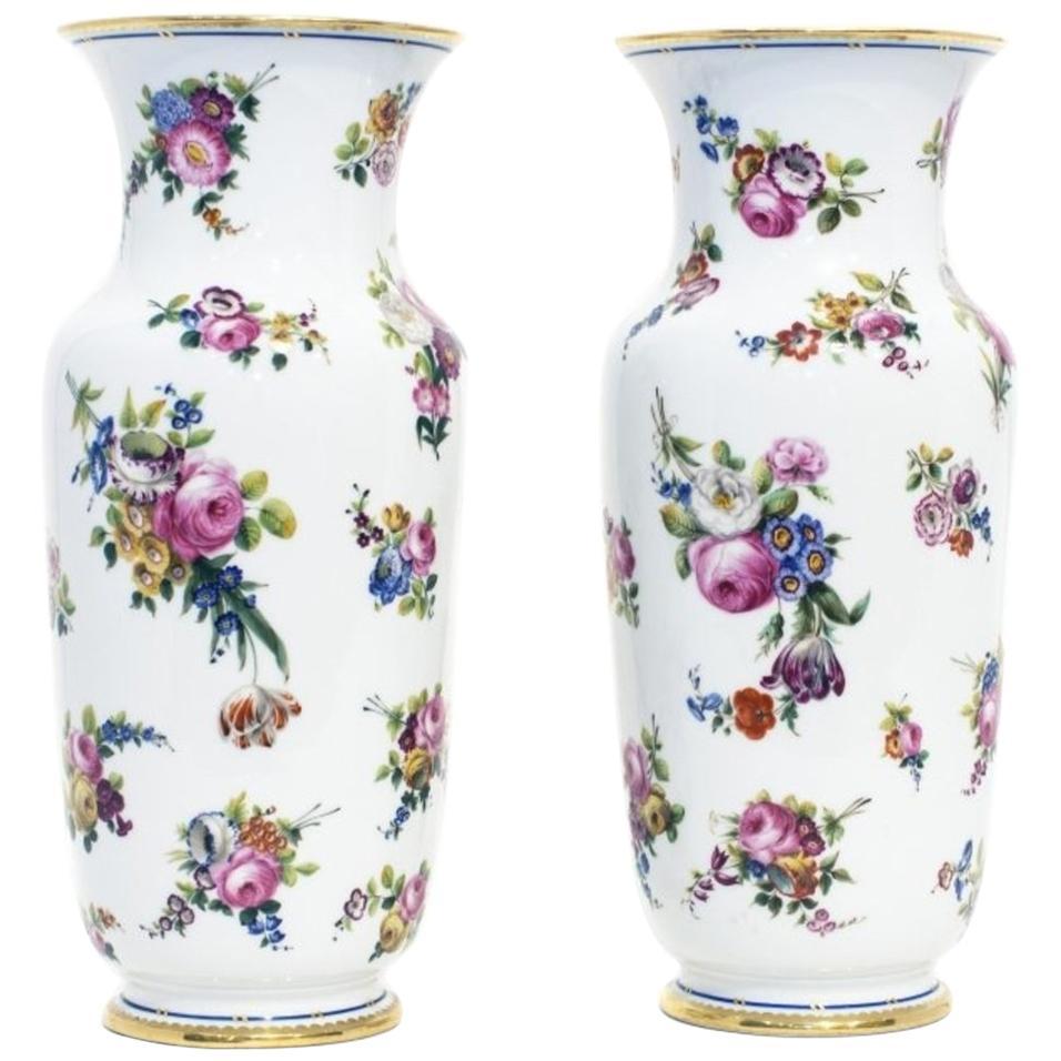 Pair of French Porcelain Vases, Paris