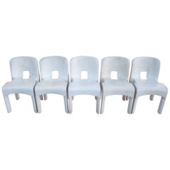 Set of Five Universale Chairs by Joe Colombo for Kartell