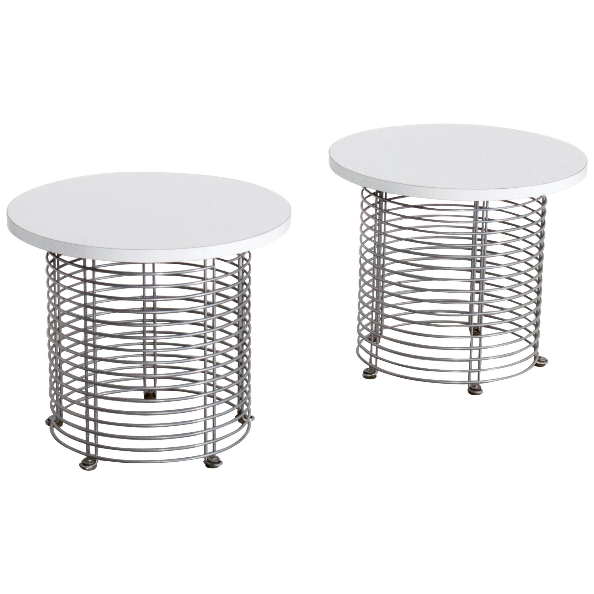 Set Of Two U0027Pantonovau0027 Wire Tables By Verner Panton For Fritz Hansen, 1971