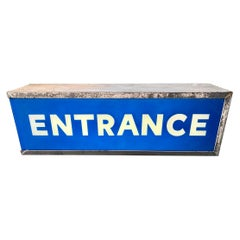 Large Metal Entrance Light Box Sign