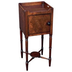 English Bedside Table or Nightstand of Mahogany from the William IV Era
