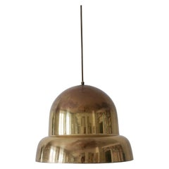 Extra Large Mid-Century Modern Brass Pendant Lamp by Bergboms, 1950s, Sweden