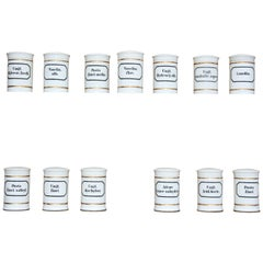 Set of 13 German Apothecary Pharmacy Jars, Early 20th Century