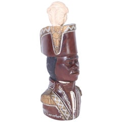 Carved Wood Bust of Toussaint Louverture