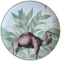 La Menagerie Ottomane Camel Porcelain Dinner Plate Handmade in Italy