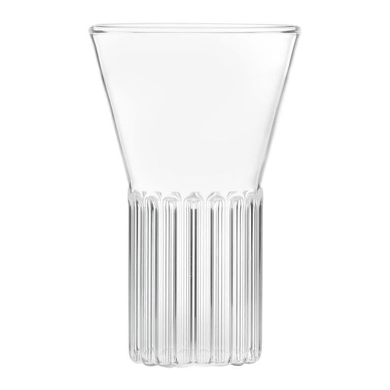 Set of Two Handcrafted Clear Contemporary Rila Small Glasses by Felicia Ferrone For Sale
