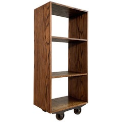 Custom Industrial Rolling Open Bookcase Shelf Unit
