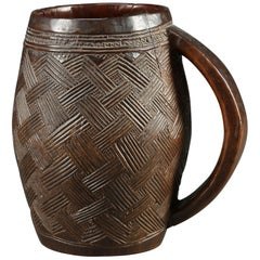 Kuba Tribal African Palm Wine Cup, Great Design, Early 20th Century