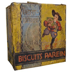 Biscuit Tin for Parein Antwerp, Belgium, Early 20th Century