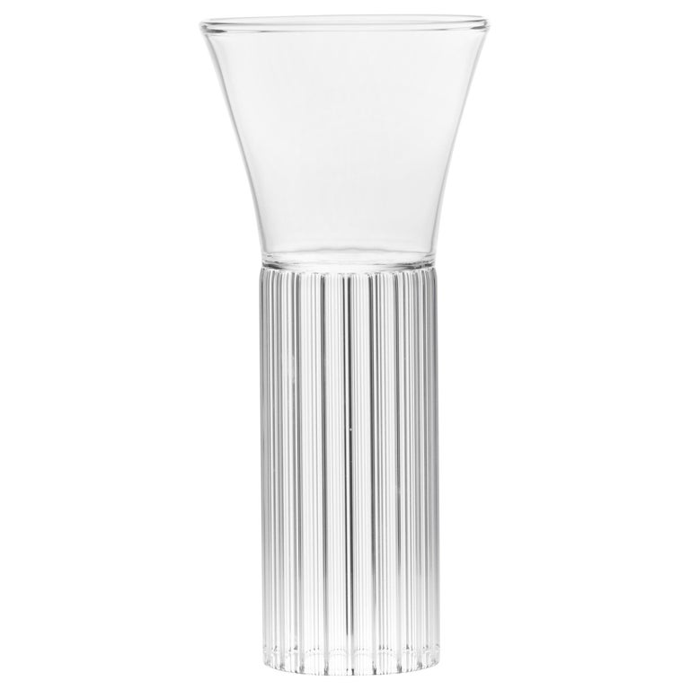 Set of Two Clear Contemporary Sofia Small Glasses by Felicia Ferrone For Sale