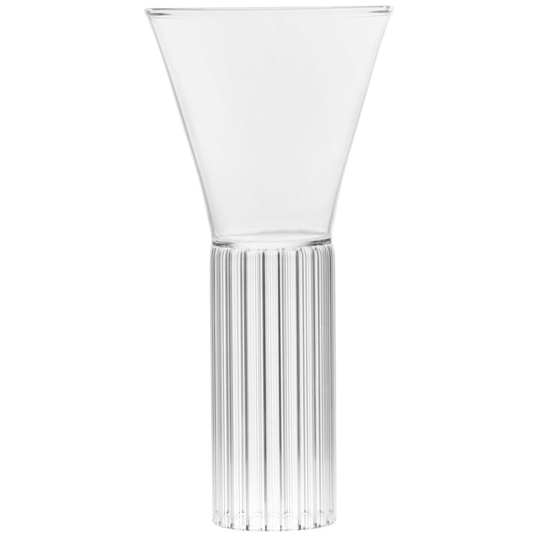 Set of Two Clear Contemporary Sofia Medium Glasses by Felicia Ferrone For Sale