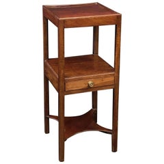 English Nightstand or Bedside Table of Mahogany with One Drawer
