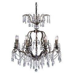 Louis XV Style Eight Light Crystal French Chandelier, circa 2018