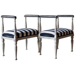 Pair of Swedish Gustavian Baquettes / Benches 1790s