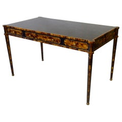 Elegant Tessellated Horn Writing Desk in the Style of Karl Springer